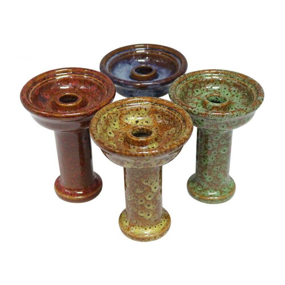 1pc Hookah Ceramic Bowl One Hole Phunnel Shisha Bowl Hookah Chicha Head Smoking Bowl Hookah Accessories