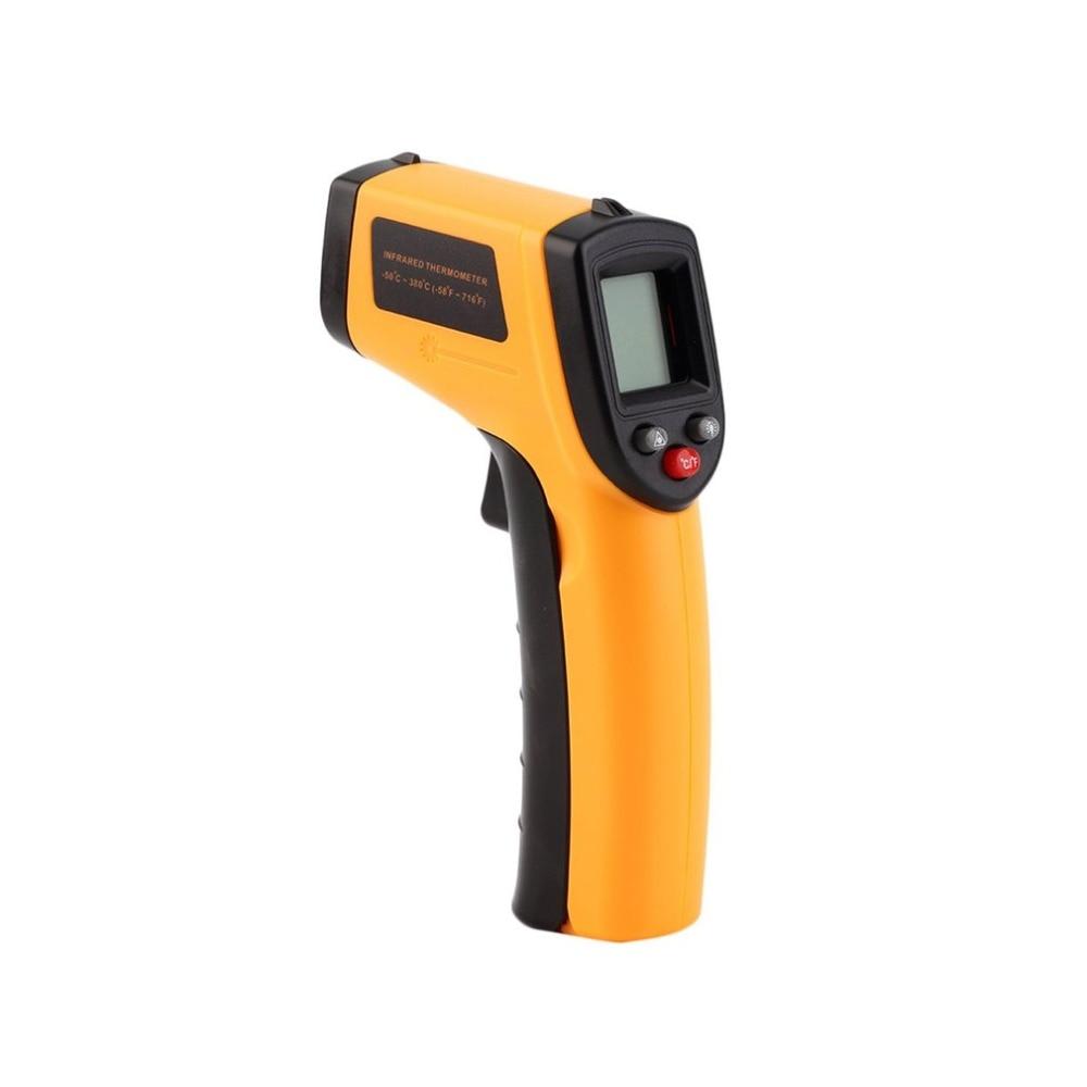 Termómetro infrarrojo LCD Digital sin contacto pistola IR láser punto térmico infrarrojo imagen temperatura medidor de mano pirómetro Regalo Idea despertador Digital con termómetro higrómetro humedad temperatura reloj de mesa escritorio cargador de teléfono