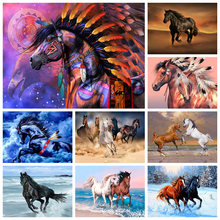 5D DIY full square/full circle diamond painting animal, horse, cross stitch kit mosaic embroidery art painting home decoration