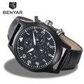 Часы Benyar мужские  армейские  спортивные  аналоговые  кварцевые  из кожи