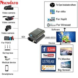 Image 2 - USB3.0 60FPS SDI HDMI 비디오 캡처 상자 FPGA 그래버 동글 게임 OBS vMix Wirecast 용 라이브 스트림 방송 녹음 스트리밍