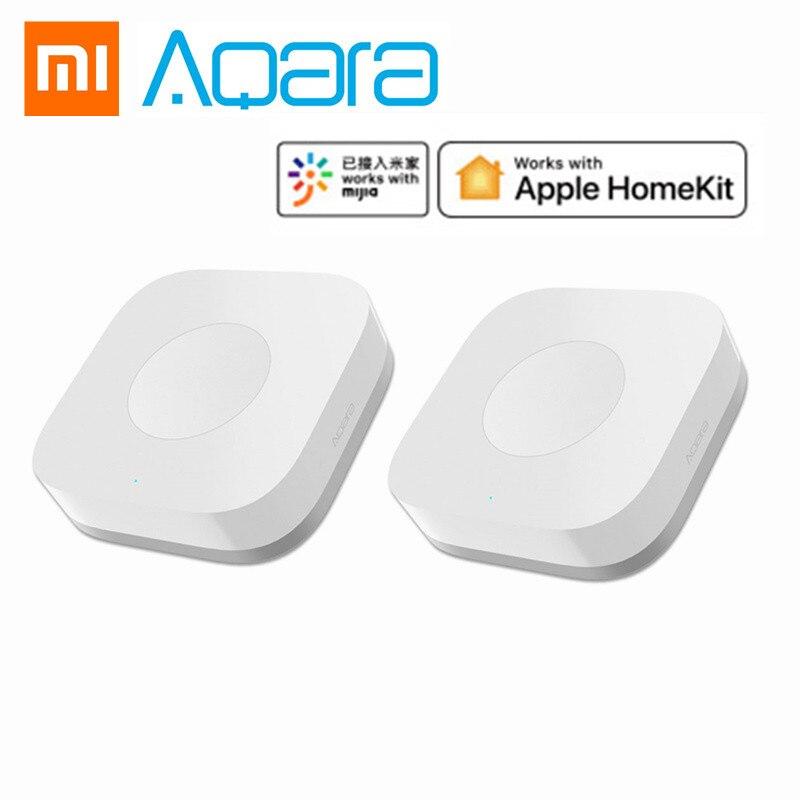 Xiaomi mijia aqara inteligente interruptor sem fio inteligente controle remoto uma chave aqara aplicativo de segurança em casa controle app