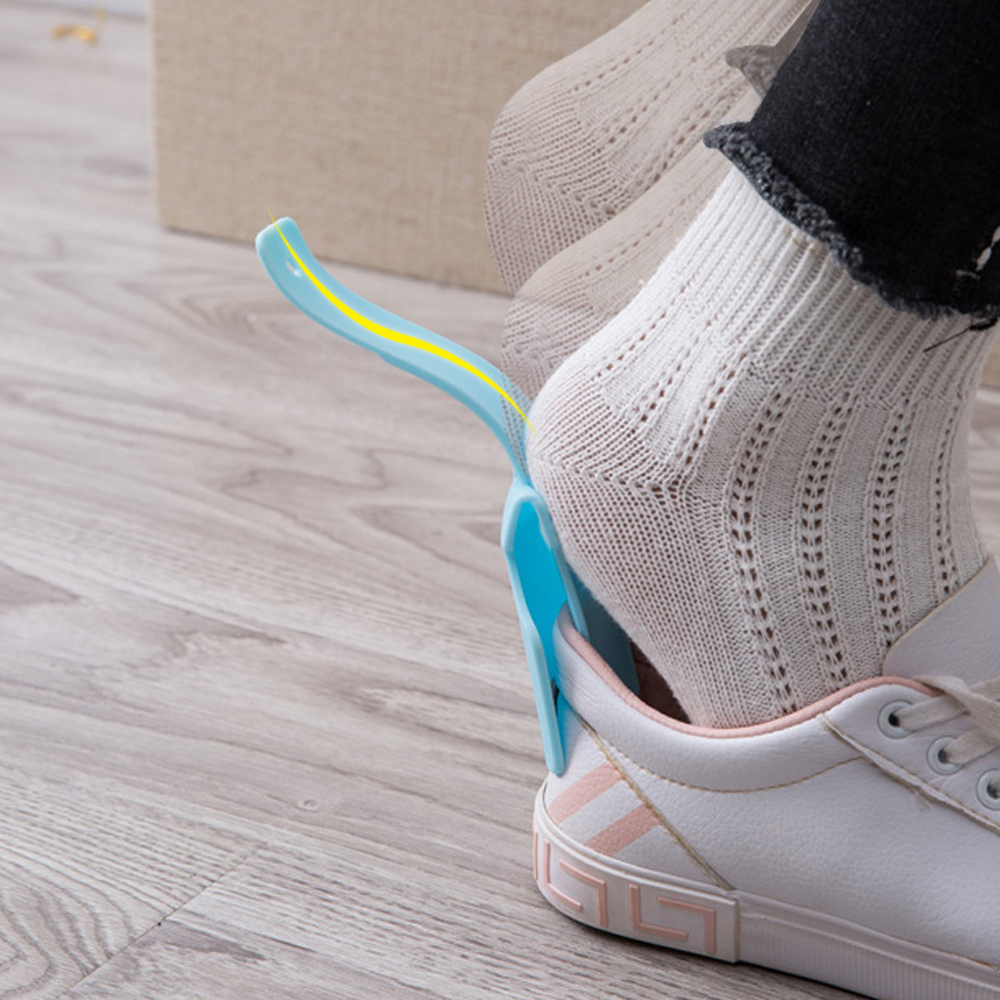 1pc Sport Shoes Lifter Colorful Plastic Flexible Shoe Horns Spoon Professional Flexible Shoe Lifter Shoes Accessories
