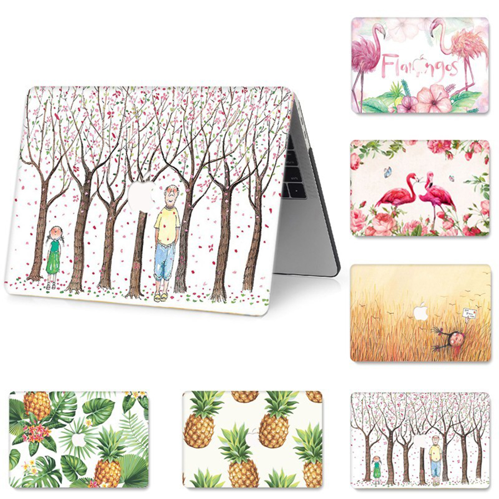 Animal Flamingo Painted Sleeve Case for MacBook Pro Air Retina 11 12 13 15 inch with Touch Bar Hard PVC Funda Replace Cases in Laptop Bags Cases from Computer Office