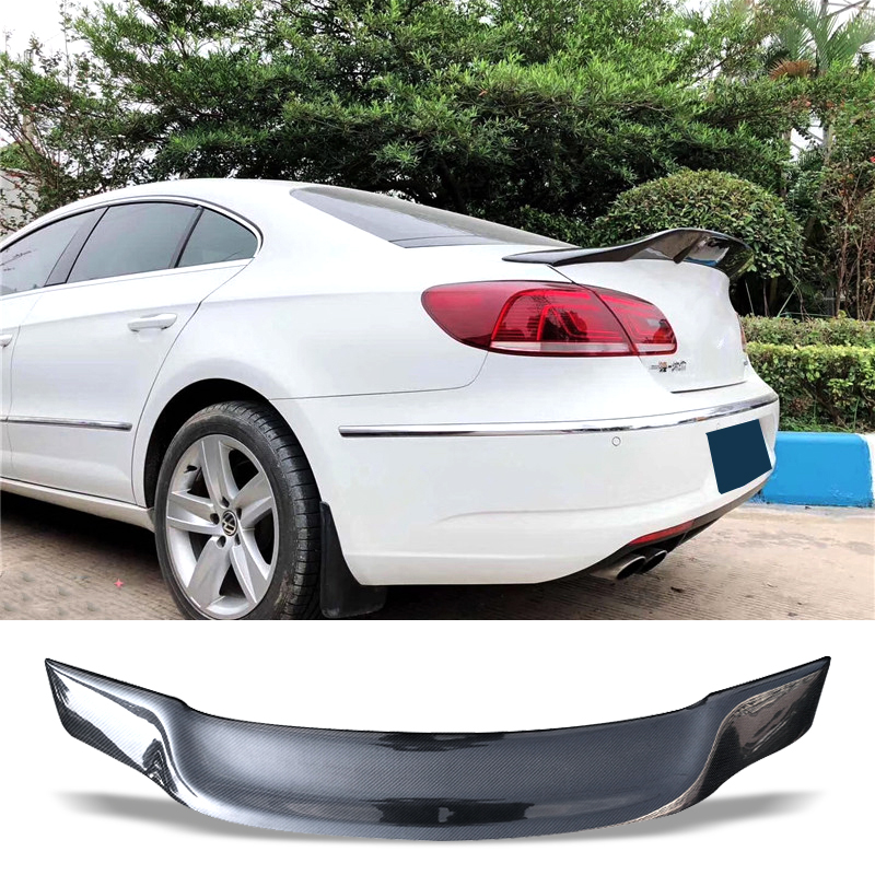 Car Trunk Spoiler Carbon Fiber Auto Rear Trunk Wing R Style Refit Accessories Spoiler For Volkswagen VW CC 2009-2017