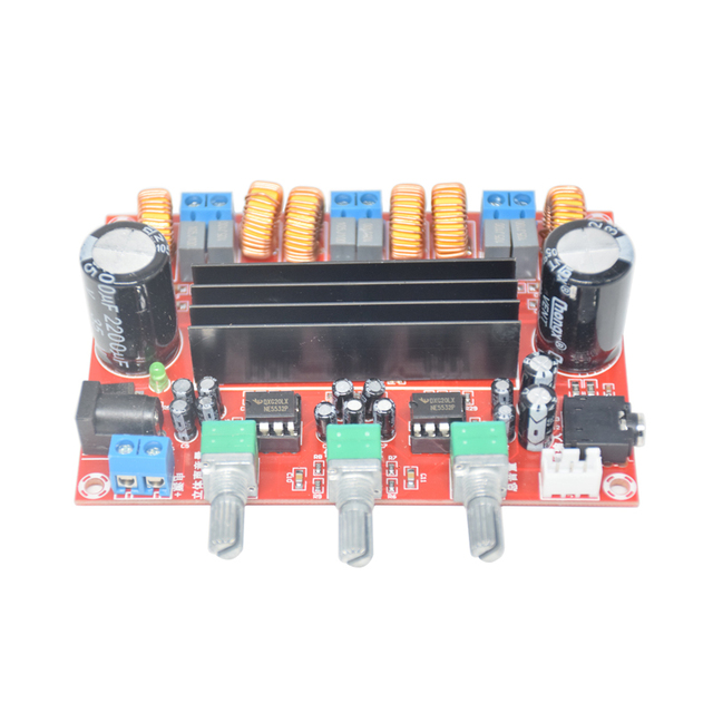 TPA3116D2 50Wx2+100W 2.1 Channel Digital Subwoofer Power Amplifier Board 12~24V Amplifier Boards Modules