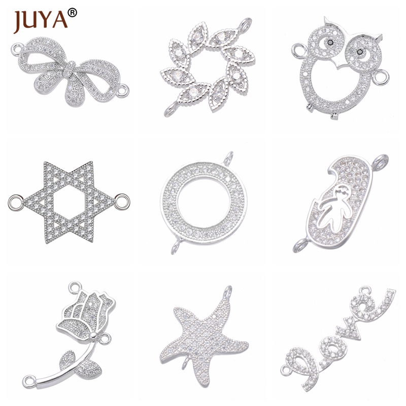 Jewelry Making Supplies Copper Zircon Material 10 Styles Series Luxury Charm Connectors Diy Jewelry Findings Wholesale