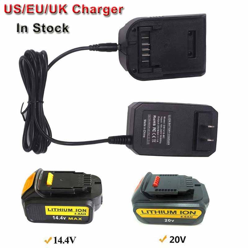 Replacement Charger For Dewalt 14.4V/20V Lithium Battery Charger DCB107 DCB115 DCB112  Slide Style Lithium Battery chargers