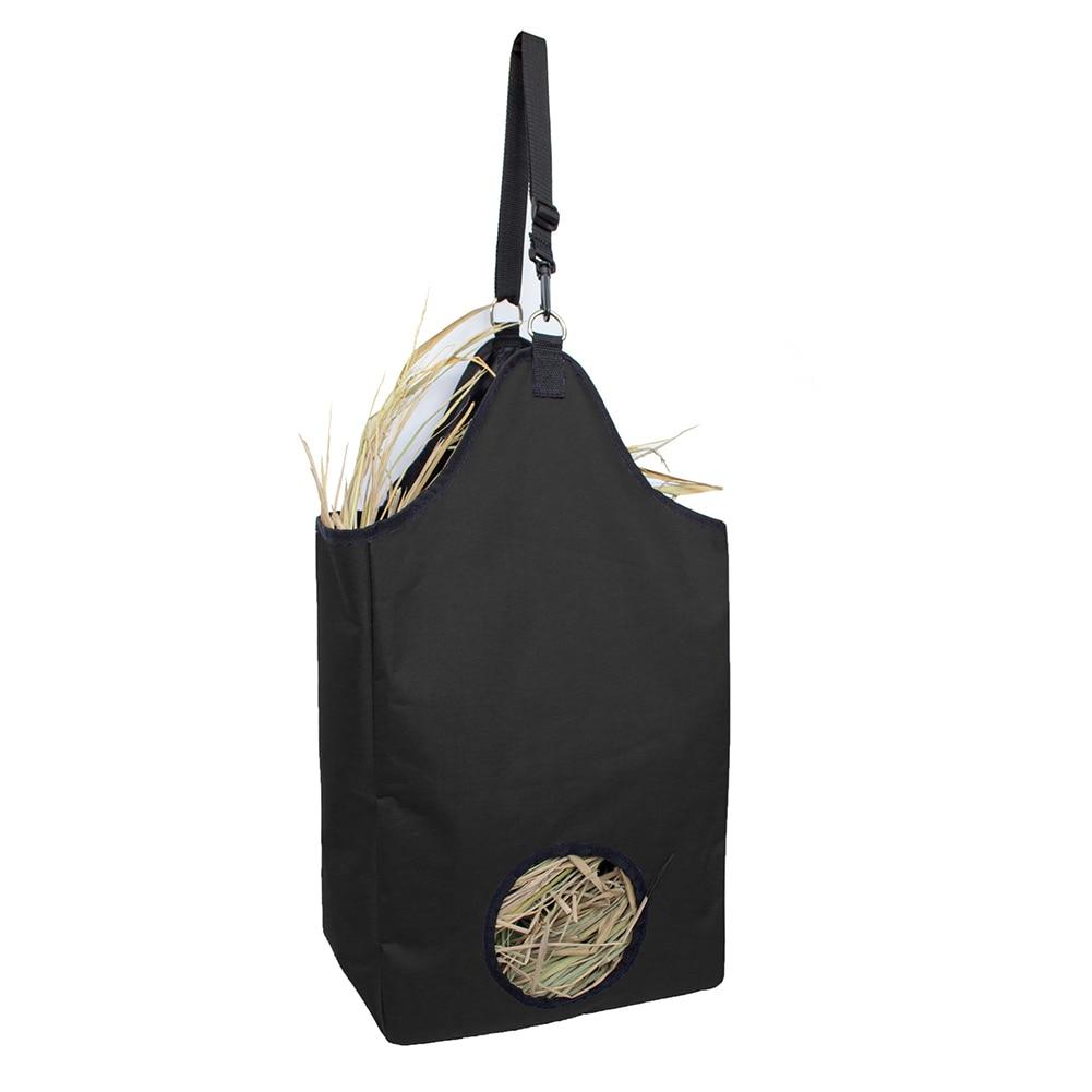 Farm Horse Feeding Cattle Hay Bag Wear Resistant Portable Storage Bag Round Hole Large Capacity Oxford Cloth Hay Bag