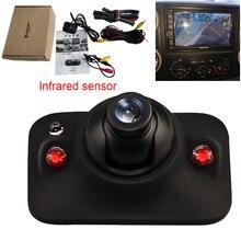 אוטומטי מבט אחורי מצלמה אינפרא אדום אוטומטי חניה גיבוי HD CCD ראיית לילה עמיד למים ניטור שימוש לרכב צד ימין מצלמה