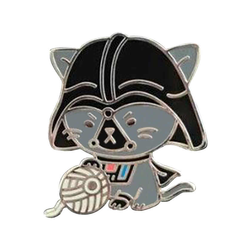Darth Meow Pin, Harde Emaille Pin, Revers Pin