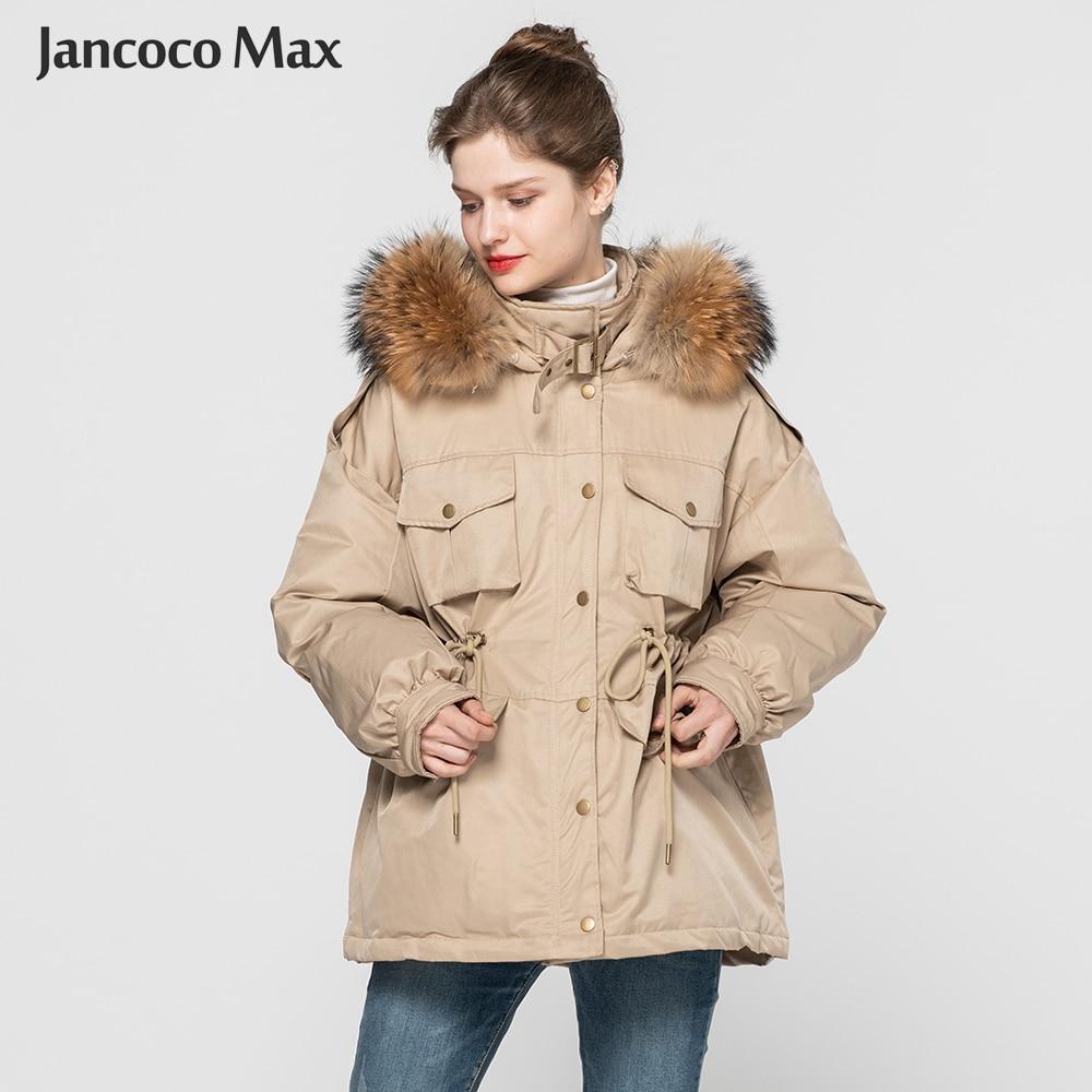 Winter Keep Warm Real Raccoon Fur Collar   Down     Coats   Women Fashion   Coat   Natural Fur Outerwear S7623