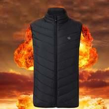 Теплая куртка с подогревом уличный жилет электрическим usb зимняя