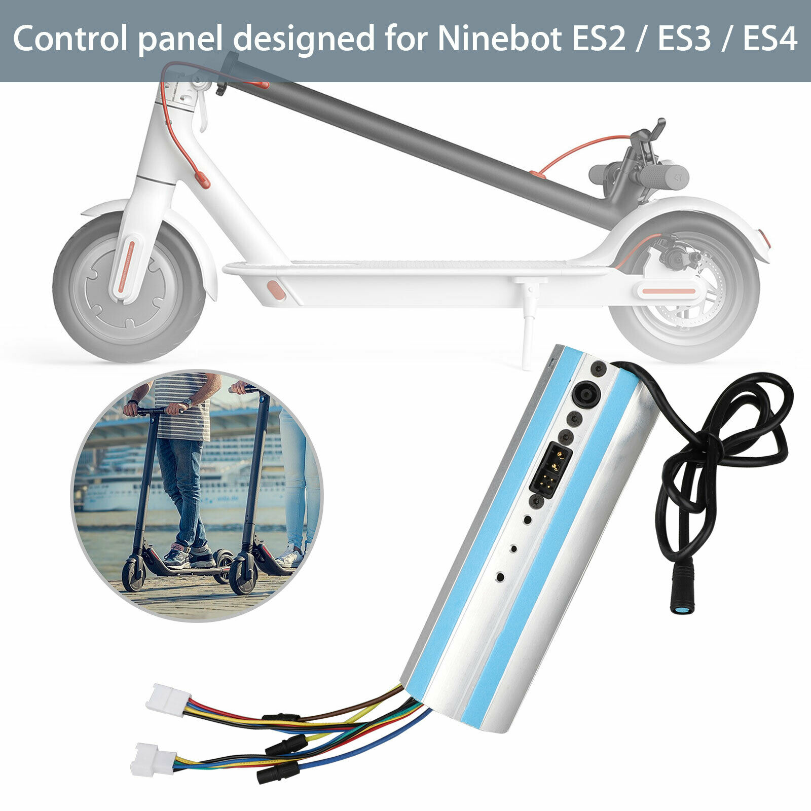 Image 3 - Replacement For Ninebot Segway ES1/ES2/ES3/ES4 Scooter Activated Bluetooth Dashboard Control Board-in Scooter Parts & Accessories from Sports & Entertainment