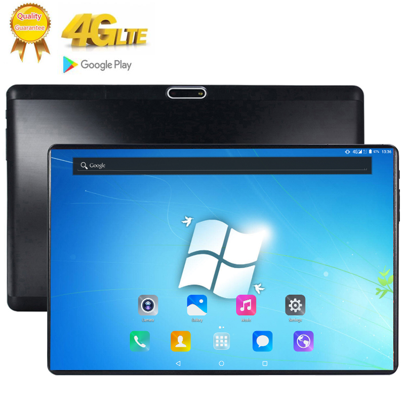 Fast Shipping 10 Inch Tablet PC 10 Core 8GB RAM 128GB ROM Dual SIM 4G Lte Cell Phone Tablets Rugged 2.5D 2560*1600 FHD Screen