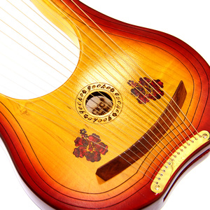 Image 5 - GECKO 15 String Wooden Lyre Harp Metal Strings Canada MAPLE  String Instrument with Carry Bag