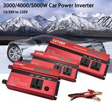 цена на Car Inverter 3000/4000/5000W 12/24V to 220V Universal Car Power Inverter LED Display Voltage Convertor Transformer with 4 USBs