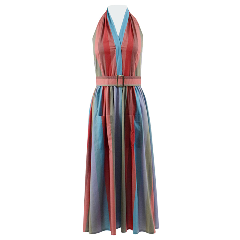 Cossky Mrs. Maisel Dress Miriam Midge Maisel Cosplay Costume Women Rainbow Dress