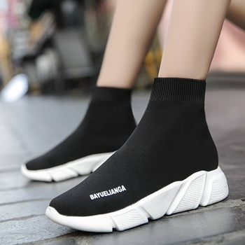 MWY Breathable Ankle Boot Women Socks Shoes Female Sneakers Casual Elasticity Wedge Platform Shoes zapatillas Mujer Soft Sole 7
