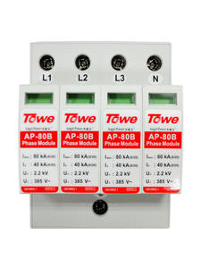 TOWE AP 80B 4P 40kA three phase surge protective device over voltage protector