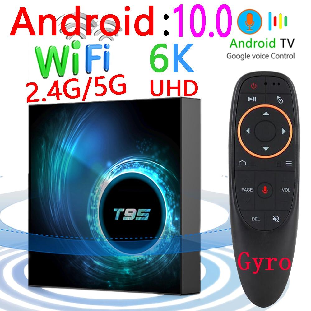 2020 Latest T95 Smart Tv Box Android 10 6k 2.4g & 5g Wifi Bluetooth 128g 6k 16g 32gb 64gb 4k Quad Core Set-Top Box Media Player