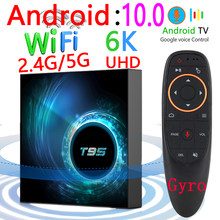 2020 Latest T95 Smart Tv Box Android 10 6k 2.4g & 5g Wifi Bluetooth 128g 6k 16g 32gb 64gb 4k Quad Core Set-Top Box Media Player