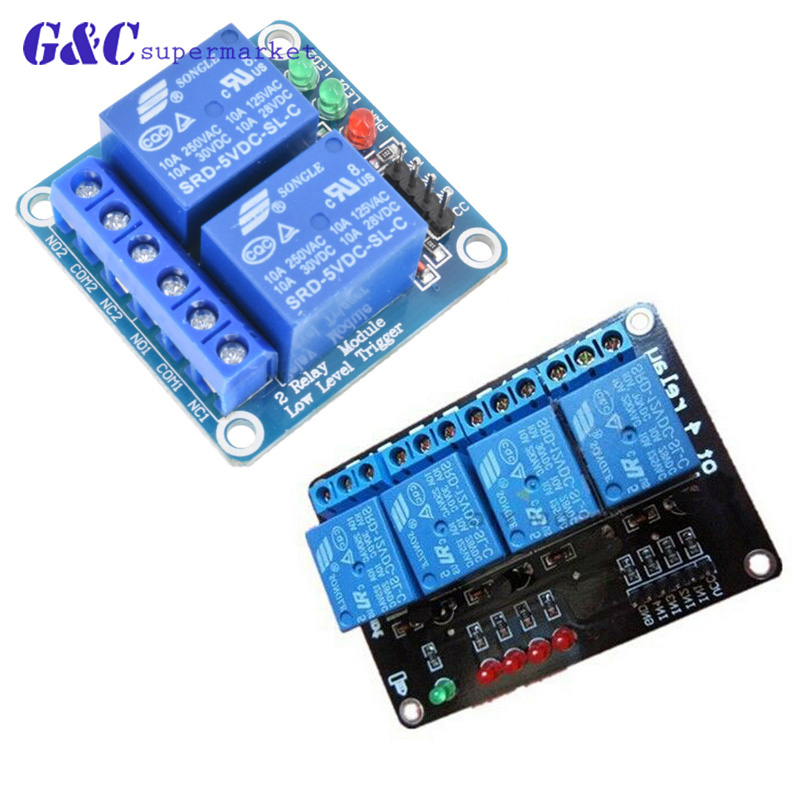 2 4 Channel 12V Relay Module Board Shield with Optocoupler Support High and Low Level Trigger for Arduino diy electronics