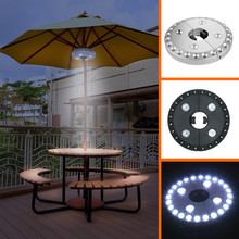 24 + 4LED Outdoor Draadloze Patio Paraplu Pole Licht Tuin Draagbare Camping Tent Lamp Noodverlichting(China)