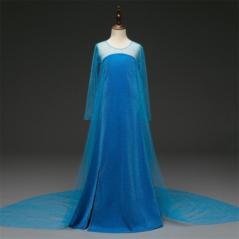 H44ad3695508a47a4a419eea1fa0c0ba9t Cosplay Queen Elsa Dresses Elsa Elza Costumes Princess Anna Dress for Girls Party Vestidos Fantasia Kids Girls Clothing Elsa Set