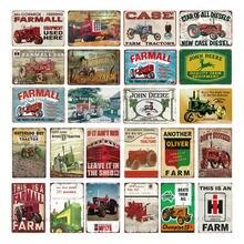 Сельскохозяйственные тракторы металлические оловянные знаки