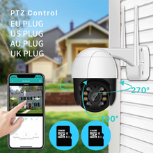 1080P PTZ Wifi IP Camera P2P Outdoor 4X Digital Zoom AI Human Detect Wireless Camera H.265 ONVIF Audio 2MP Security CCTV Camera