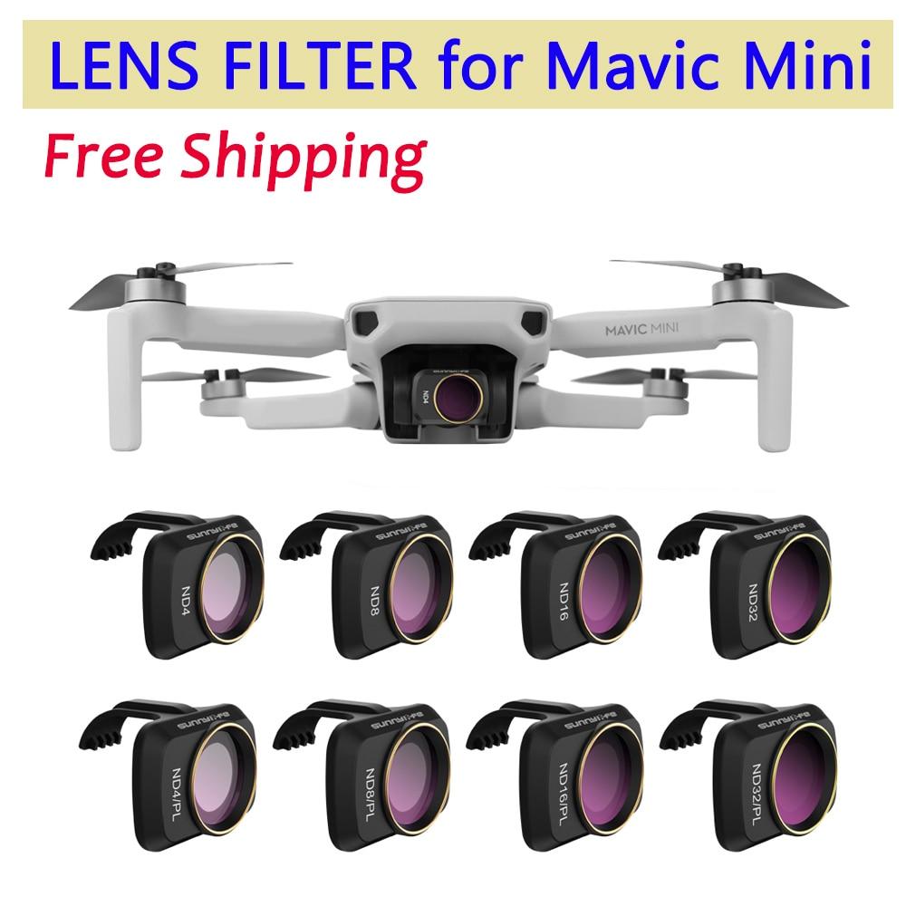 for DJI Mavic Mini Drone Camera Gimbal Lens Filter MCUV CPL ND Camera Lens Sunhood Protector for DJI Mavic Mini Accessories(China)