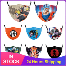 Dragon Ball Adult Children Face Masks Naruto Theme Printed Mouth Mask Reusable Washable Filter Masks Dustproof Mouth Mask Cover