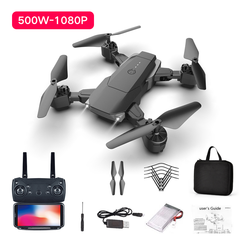K2 Dual Camera Fixed-height Quadcopter Long-endurance Folding Drone 1080P WiFi Remote Control Aircraft Keep Drone Camera