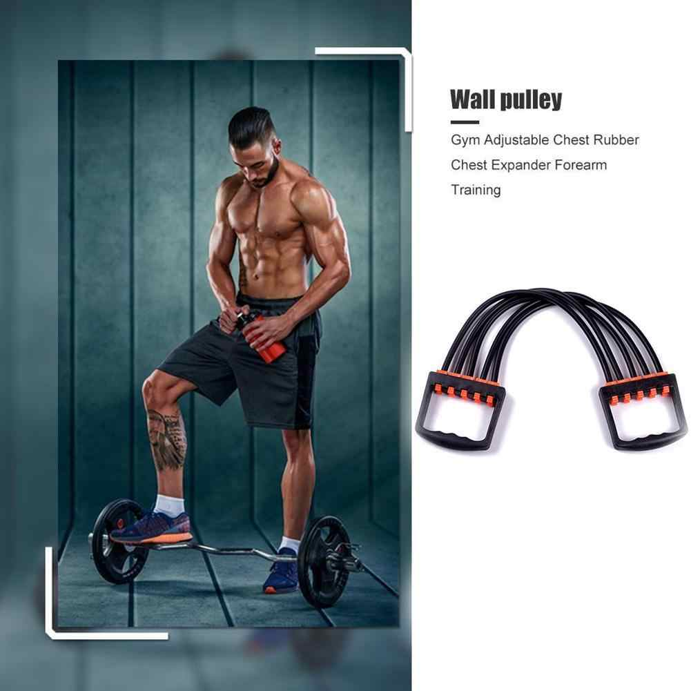 5-Spring Rubber Chest Expander Exerciser Multifunction Fitness Muscle Traini