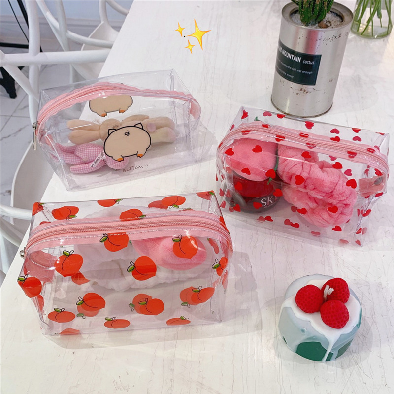 Transparent PVC High Capacity Pencil Bag Kawaii Storage Bag Purse Card Package Storage Tool Super Many Style Stationery Supplies