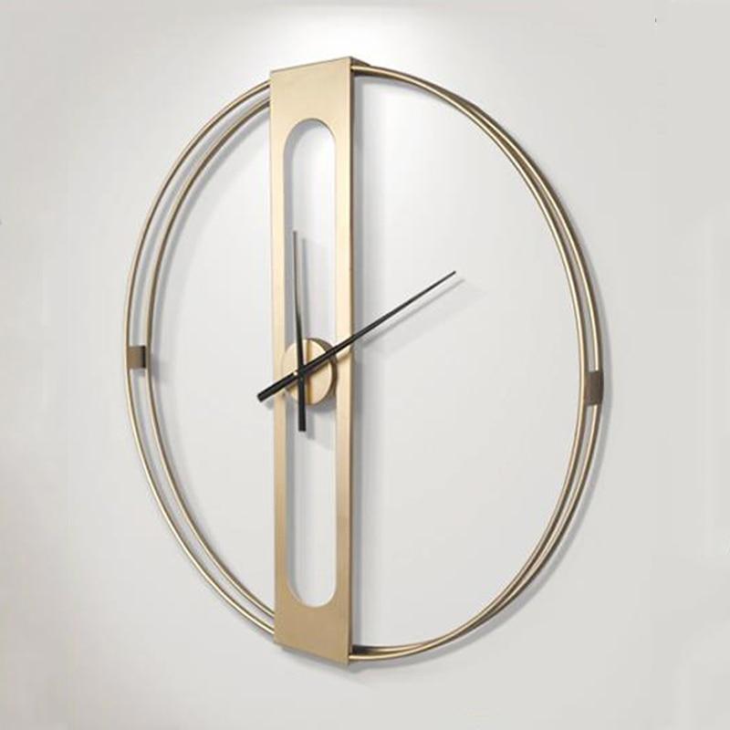 Grande horloge murale en métal de luxe Design moderne nordique Simple 3D décoration suspendue montre grandes horloges murales décor à la maison 70 cm - 3
