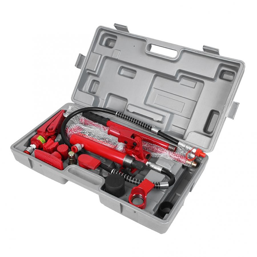 1 Set 4 Ton Hydraulic Power Car Van Jack Body Power Repair Kit Tools Red Hydraulic Jack