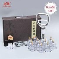 24 dosen Vakuum Schröpfen Massage-Set Chinesische Medizin Physiotherapie Gesunde Pflege Anti-Cellulite Saug Tassen Für Körper Massager