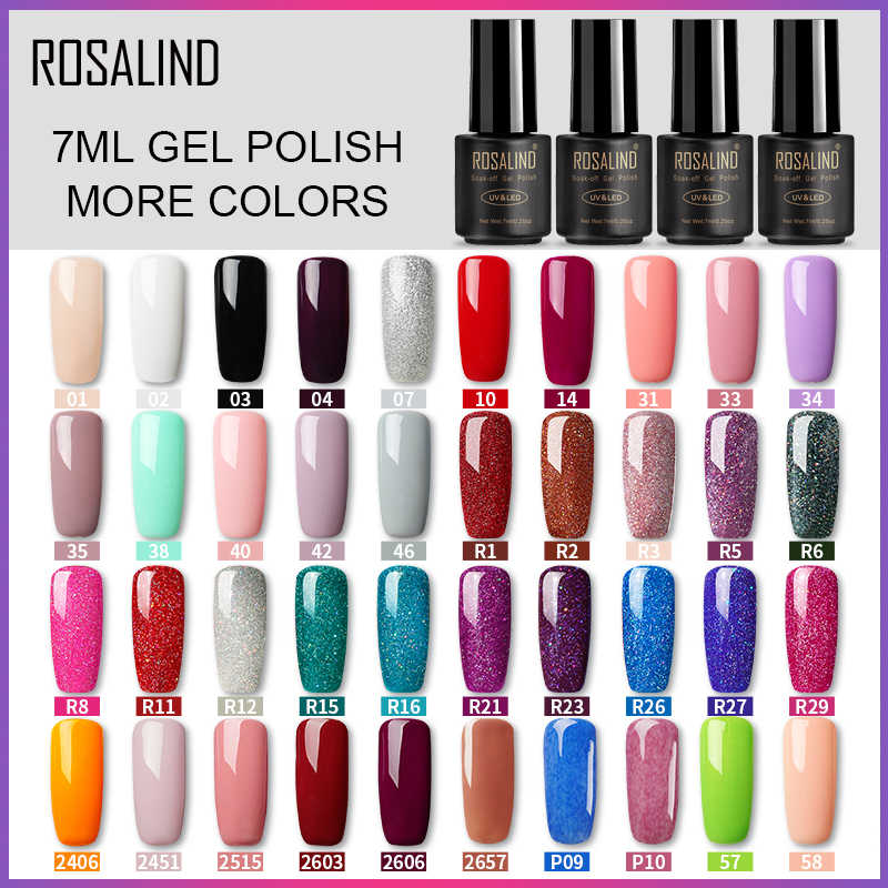 Rosalind Nail Gel Polish 7 Ml Pure Kleur Soak-Off Uv Gel Langdurige Nagellak Nail Art nail Gel Polish