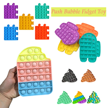 Push Bubble Sensory Anti Stress Relief Toy Kids Adult Push Bubble Pop Ice Cream Board Game Gifts Children Fun Toy Fidget Toy cheap CN(Origin) 7-12m 13-24m 25-36m 4-6y 7-12y 12+y Bubble Toys Europe certified (CE) Safe about 18*10 5*1 5cm 7 09*4 13*0 59in