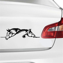 Créatif deux chevaux graphique autocollant de voiture et décalcomanie drôle Animal voiture style noir/blanc Super offre de haute qualité