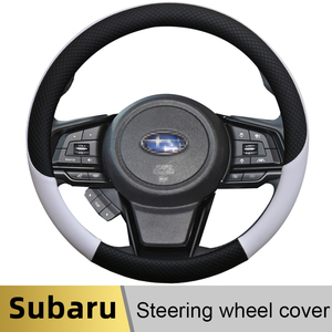 100% DERMAY Brand Leather Car Steering Wheel Cover Anti-slip for Subaru Forester Legacy XV BRZ WRX High Quality Auto Accessories