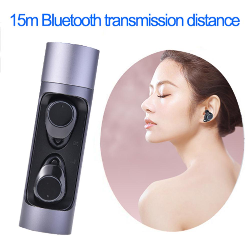 Newest Bluetooth Headset Fingerprint Touch Rotate Closed Multi-Functional Sports Bluetooth Headset Waterproof Charging For Phone image