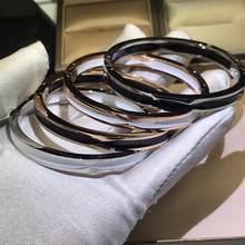 Bracelet de luxe en acier inoxydable pour Couple, marque italienne, breloques pour amoureux, élégant, romantique, à la mode, 2020