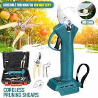 Electric Pruner Cordless Pruning Shears Pruning Tool Garden Hand Tool for Makita 18V battery with 2 Scissors & Plastic Box