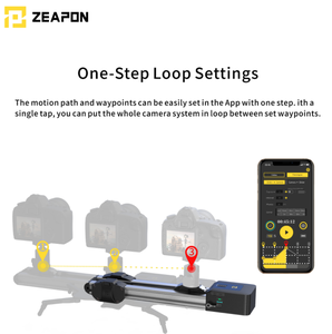 Image 2 - En stock pronto ZEAPON Micro 2 mini portátil ultra silencioso motor Cámara motorizada Video doble distancia paralelo deslizador Macro pista