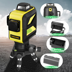 Image 4 - Firecore 3D 12lines green laser level 360 auto outdoor laser with fine tuning tripod/magnet bracket plastic box packaging