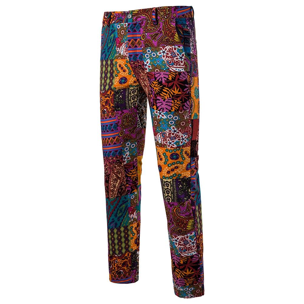 Мужская Мода Национальный Ветер Повседневное модные Для мужчин Блейзер Для мужчин s Брюки - Цвет: 10