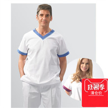 Fashion Medical Scrub Sets Beauty Hospital Dental Clinic Workwear Uniforms Lab Coat Doctors Nurse Gowns Surgical Overalls- 2016 clinic new hospital adjustable surgical cap medical scrub caps for women doctors and nurse long hair 100